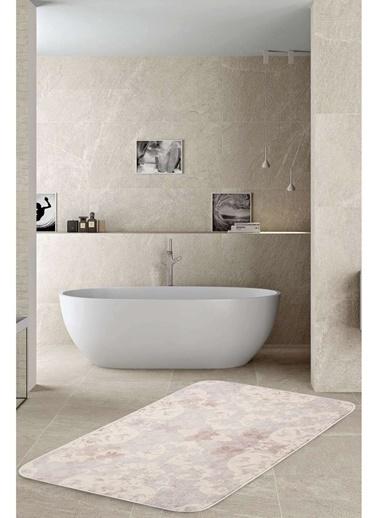 Hamur Elegance 75x125 cm Banyo Paspası Kaymaz Taban Banyo Halısı Lila